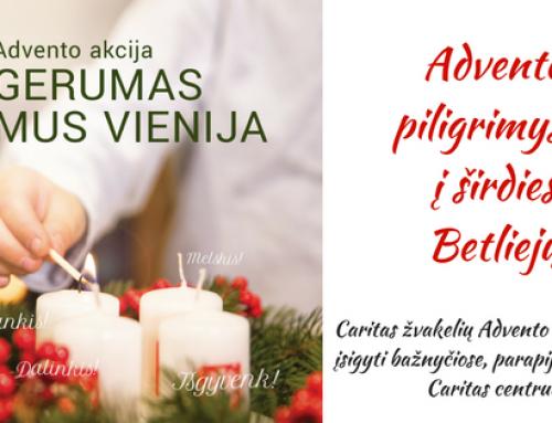 """2017-12-03 Caritas Advento paramos akcija """"Gerumas mus vienija 2017"""""""