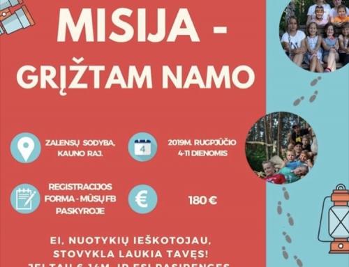 Kvietimas į vaikų stovyklą