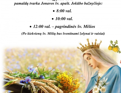 Žolinė – Švč. Mergelės Marijos Ėmimo į Dangų šventė