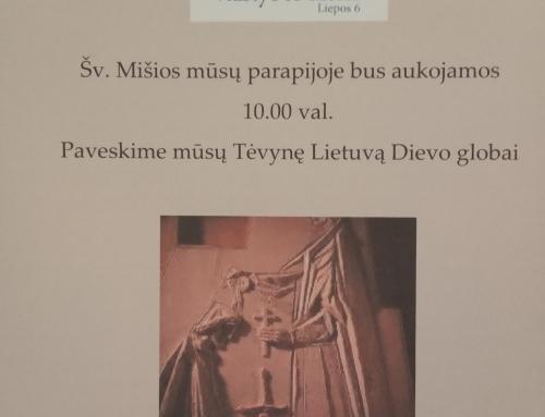 Lietuvos Valstybės diena. Šv. Mišios