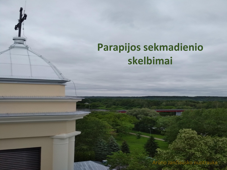 Parapijos sekmadienio skelbimai